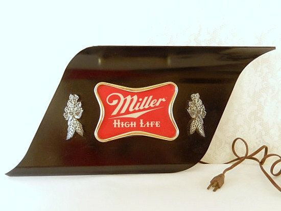 Miller high life beer sign lighted beer sign vintage electric miller high life beer sign lighted beer sign vintage electric bar sign man cave breweriana home decor aloadofball Images