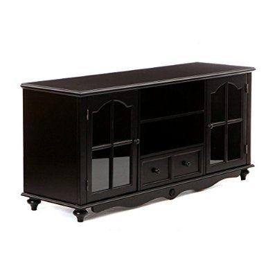 awesome SEI Coventry Antique-Black Large Television Console - For Sale Check more at http://shipperscentral.com/wp/product/sei-coventry-antique-black-large-television-console-for-sale/