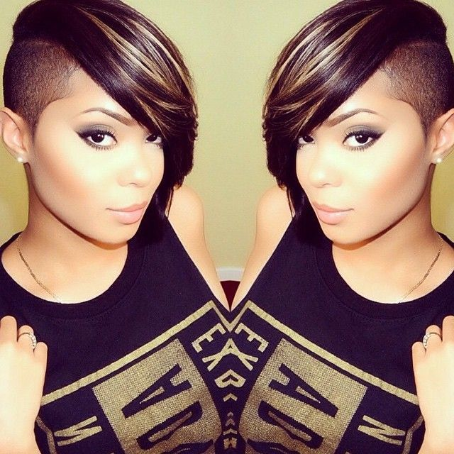 Shaved Hairstyles hot fashion style selena gomez on voque magazine half shaved hairstyleslong Shaved Hairstyle Ideas For Black Women 11