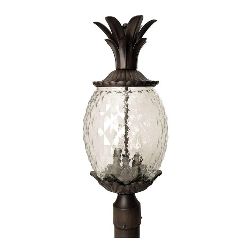 Acclaim Lighting 7517 3 Light 22 25 Height Pineapple Post Light From The Lanai Black Coral Outdoor Lighting Post Lights Single Head Post Lights Lighting Outdoor Post Lights Candelabra Bulbs
