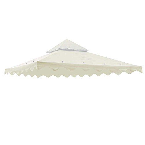 10 X 10 Gazebo Patio Canopy Replacement Top 2 Tier Uv30 200g Sqm Cover With Scalloped Valance Yescom H Gazebo Replacement Canopy Patio Gazebo Sun Shade Tent