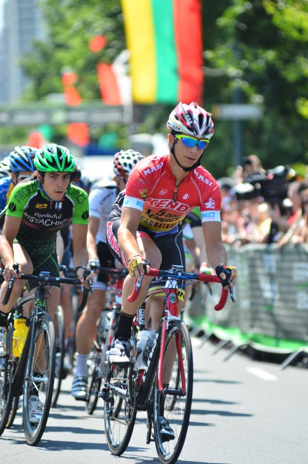 Max Korus leading the Kenda 5-hour ENERGY® Pro Cycling Team at the