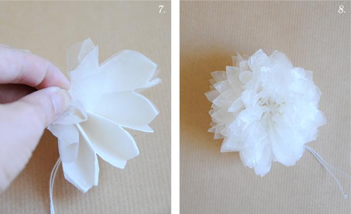 Nice package diy waxed paper pom pom flowers shes crafty nice package diy waxed paper pom pom flowers mightylinksfo