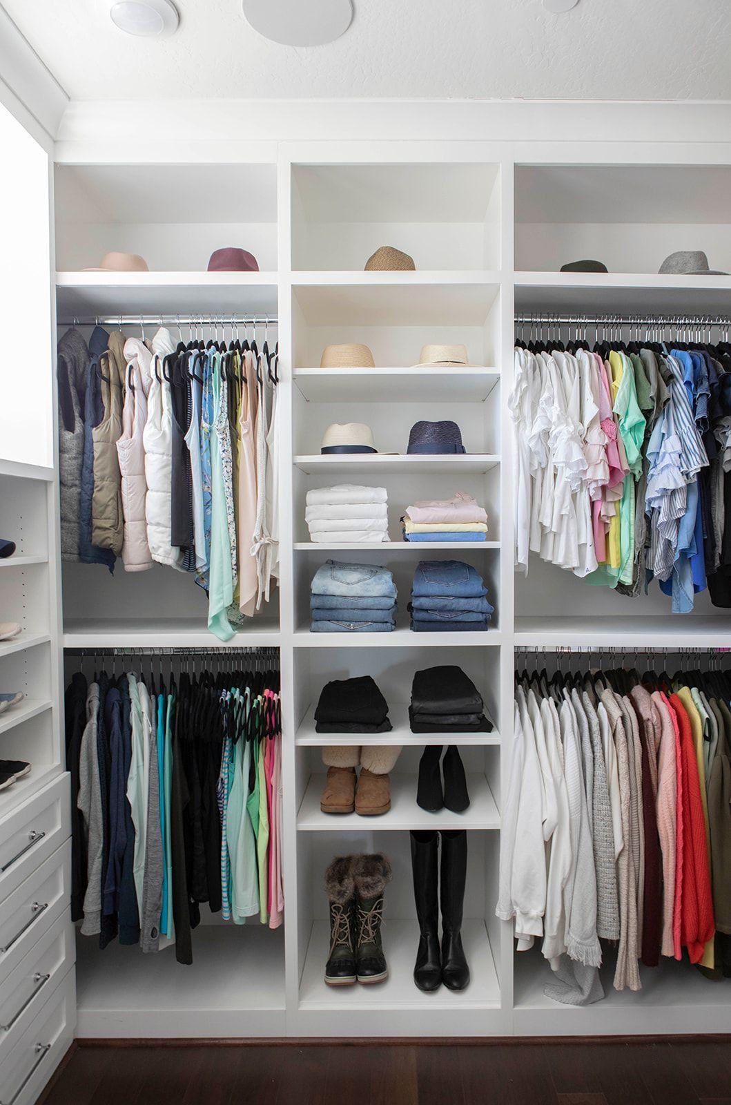 Master Closet Tour Mika Perry Closet Renovation Master Closet Organization Closet Hacks Organizing