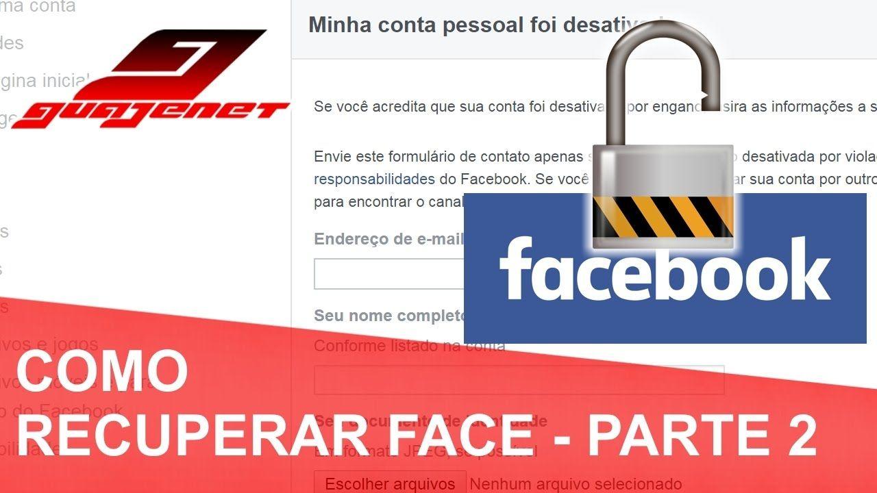 Como recuperar Facebook sem ter e-mail ou número do celular - PARTE 2 (A...