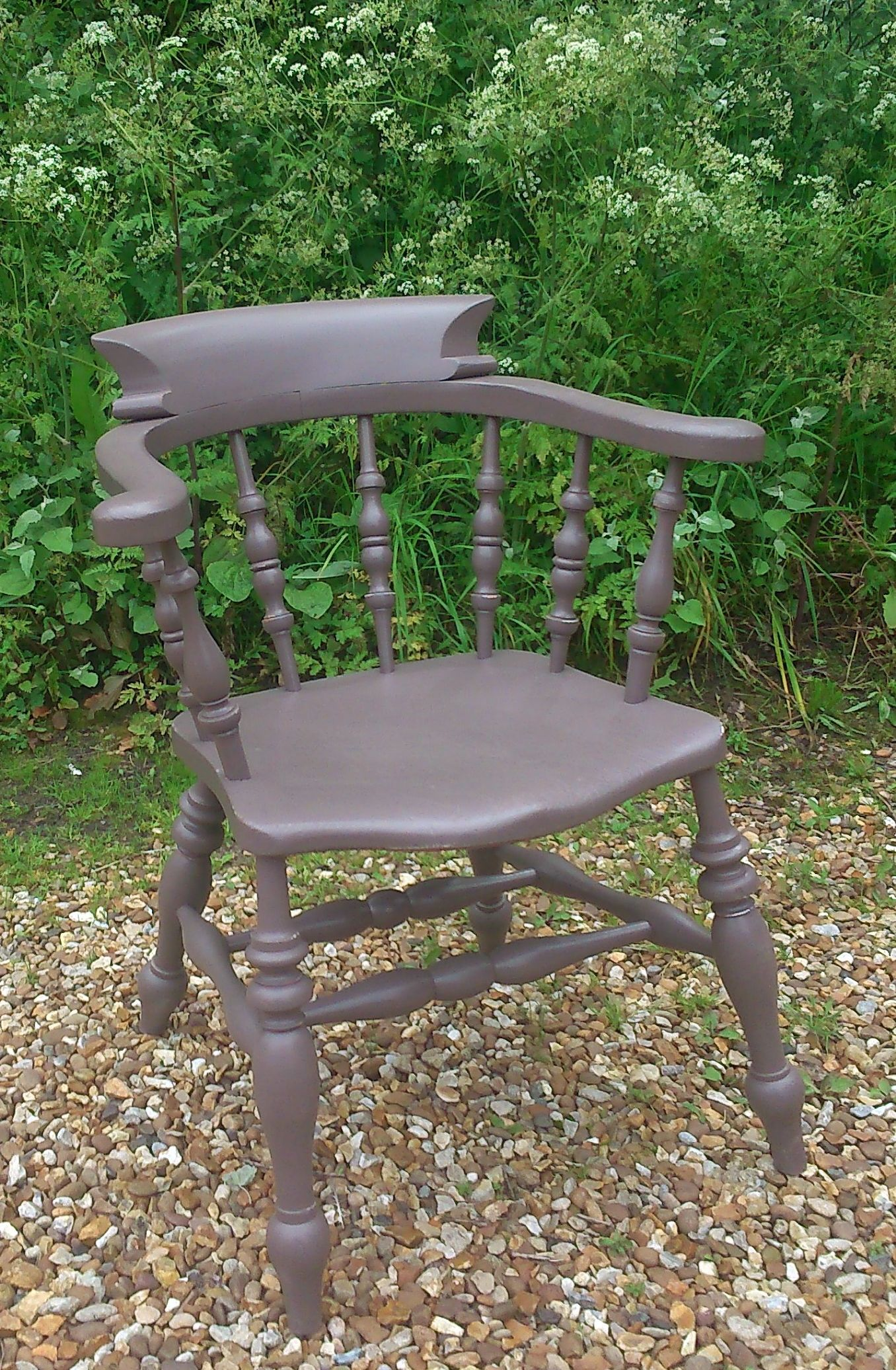 Charmant Old Wooden Customers Carver Chair Painted In Farrow U0026 Ball U0027London Clayu0027.