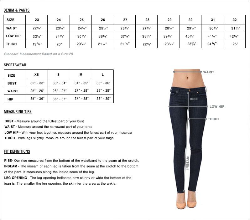 how to measure jeans size women's