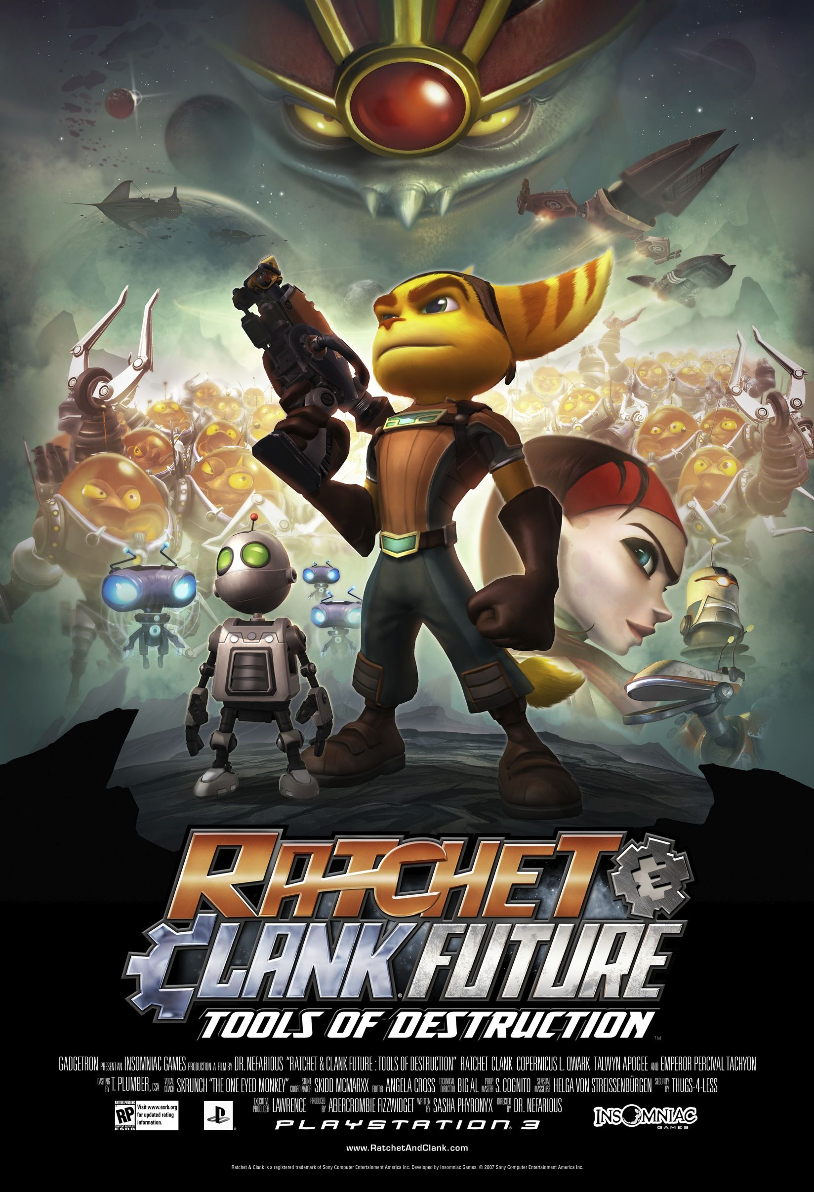 Ratchet And Clank Tools Of Destruction Poster Posters Art