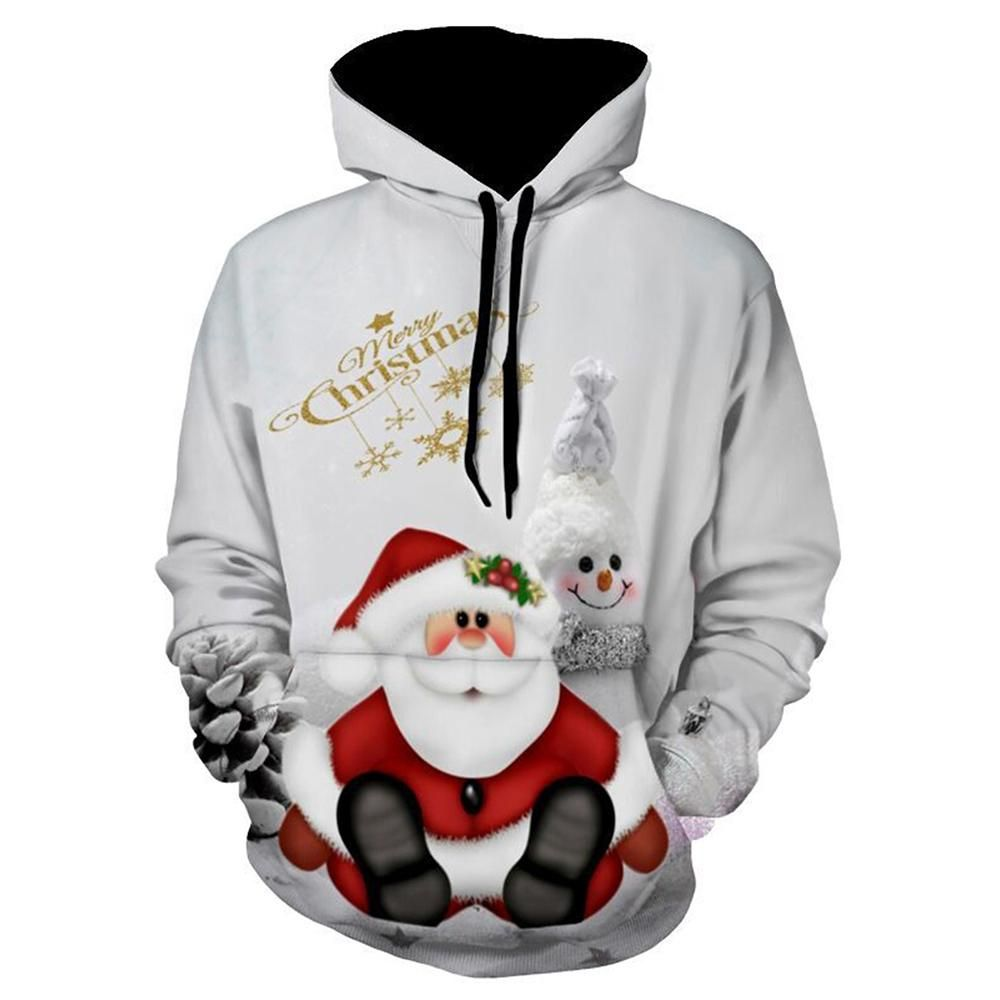 Kids Christmas Hooded Tops,Tronet Kids Toddler Baby Girls Boys 3D Printed Hooded Sweatshirt Casual Pullover Hoodie