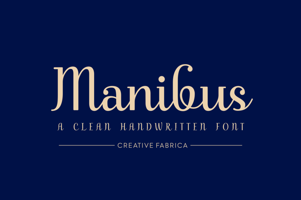 Download Manibus (Font) by Creative Fabrica Fonts · Creative ...