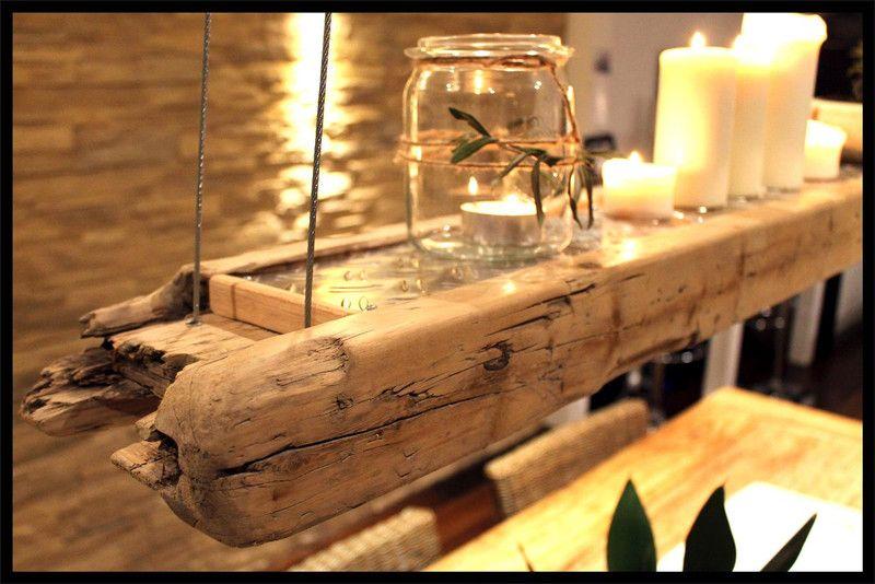 design lampe deko kombination aus altem bauholz von villa. Black Bedroom Furniture Sets. Home Design Ideas
