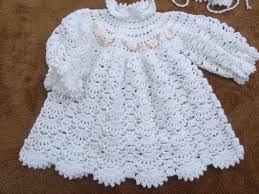 Resultado de imagem para vestido croche infantil rosa e branco