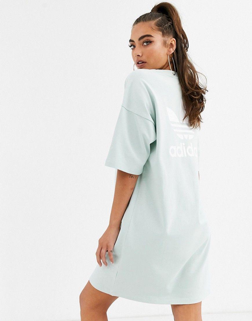 Adidas Originals Adidas Originals T Shirt Dress In Mint Green Adidasoriginals Cloth Adidas Tshirt Dress T Shirt Dress Adidas Women
