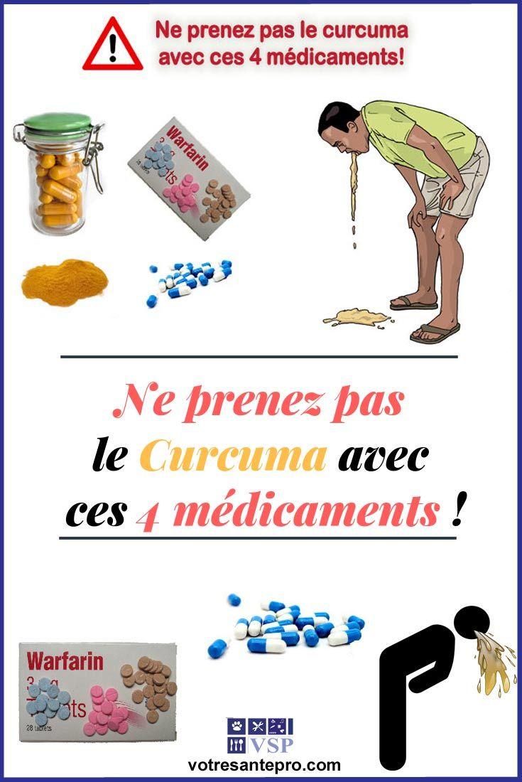 Le curcuma et ses contre-indications par rapport à 4 médicaments | Curcuma, Curcuma bienfaits et ...