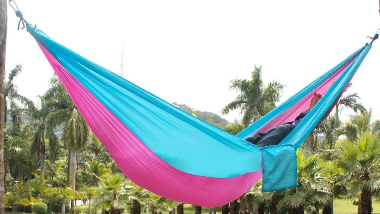 portable nylon double hammock 230x130cm garden outdoor camping furniture survival hammock swing sleeping bed for 2 portable nylon double hammock 230x130cm garden outdoor camping      rh   pinterest