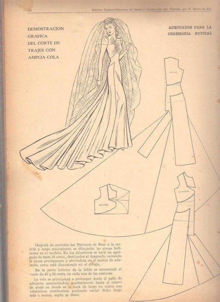 wide train traje novia | patterns | pinterest | patrones, costura y