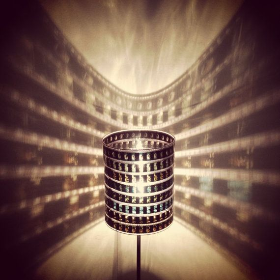 Recycled 35mm lamp from etsy diy pinterest etsy create and recycled film strip lamp shade create your own disney batman titanic miami vice etc aloadofball Gallery