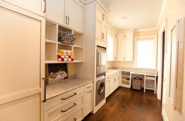 Waschküche Möbel waschküche einrichten möbel holzschränke eingebaut holzboden