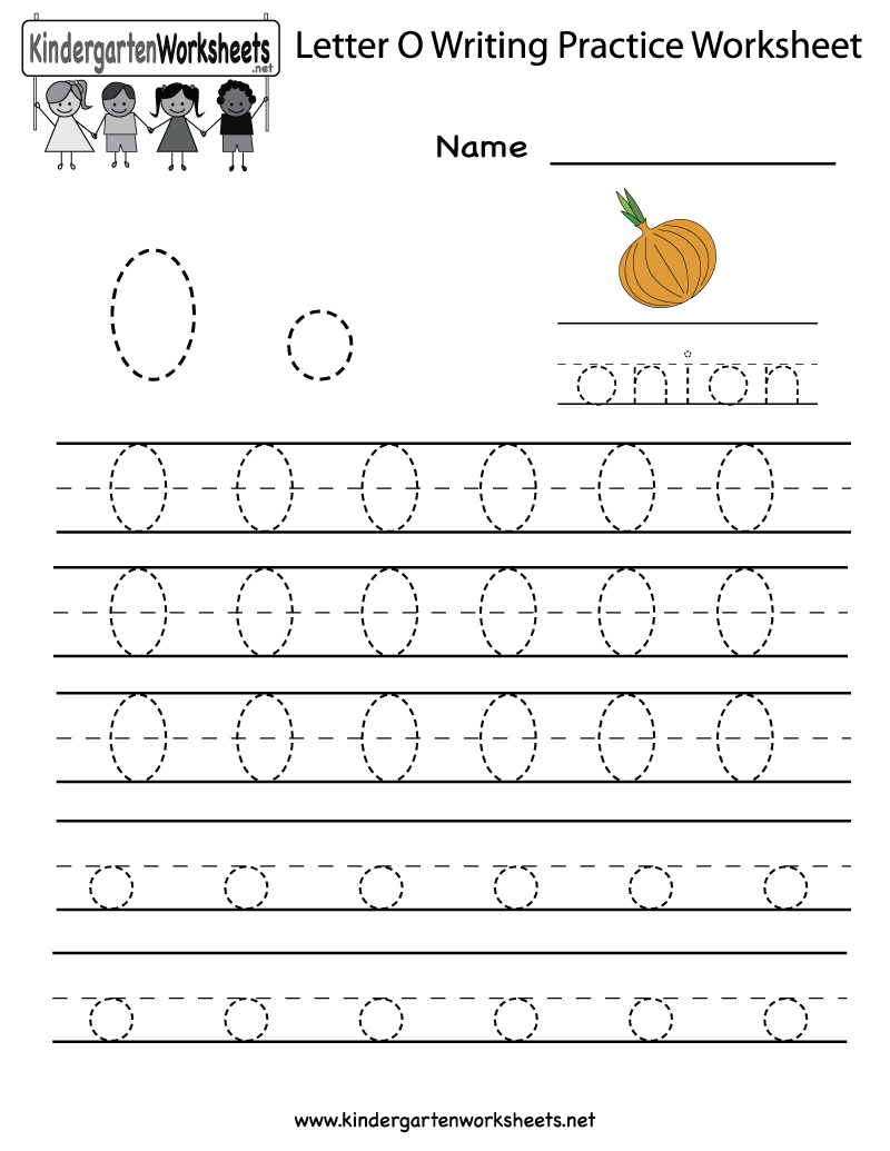 Kindergarten Letter O Writing Practice Worksheet Printable – Letter O Worksheets Preschool