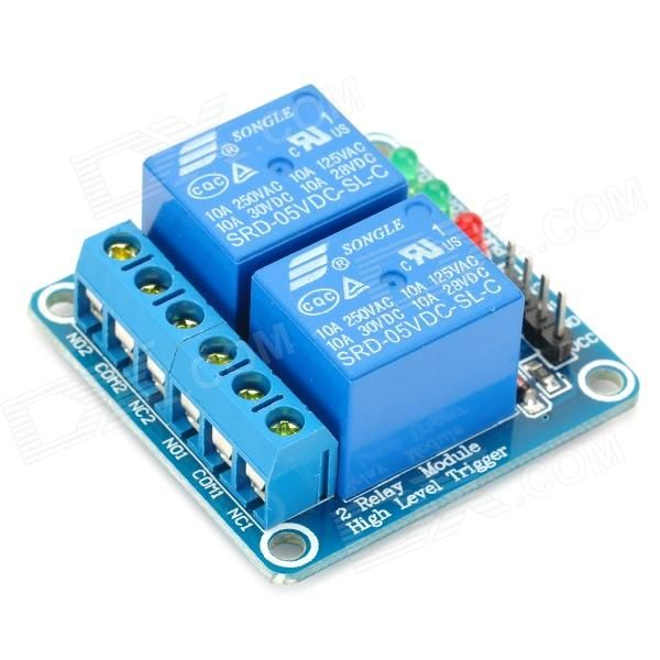 2 Channel 5v High Level Trigger Relay Module For Arduino Works