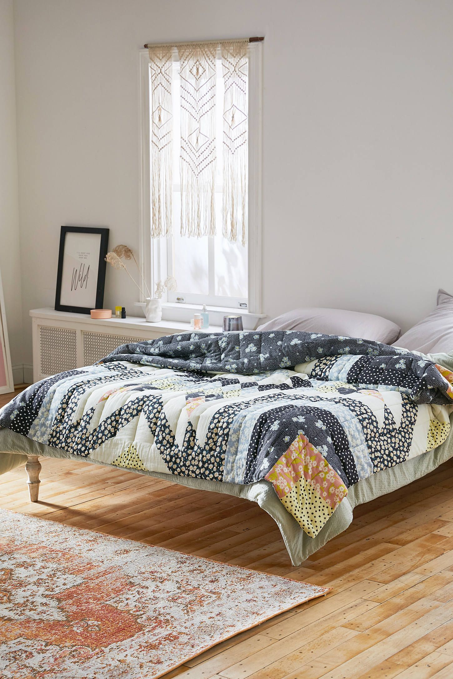 Mixed Print Patchwork Quilt Urban Outfitters Master Bedrooms