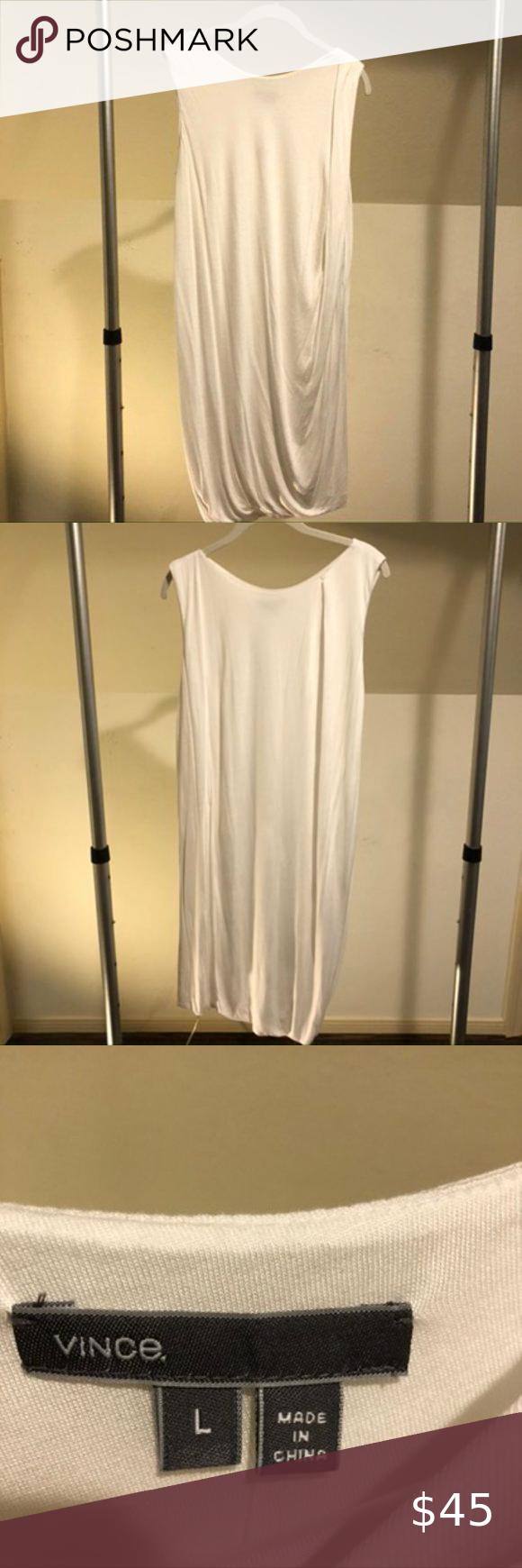 Vince White T Shirt Dress L White Tshirt Dress Vince Dress T Shirt Dress [ 1740 x 580 Pixel ]