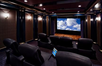 Home Theater Interior Design   Interior Design   An Important  Characteristic Of A Home Theatre Of Good Quality Is The Size And Shape Of A  Room. Part 9