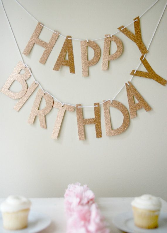 Simple Glitter Letter Banner  Celebration Style