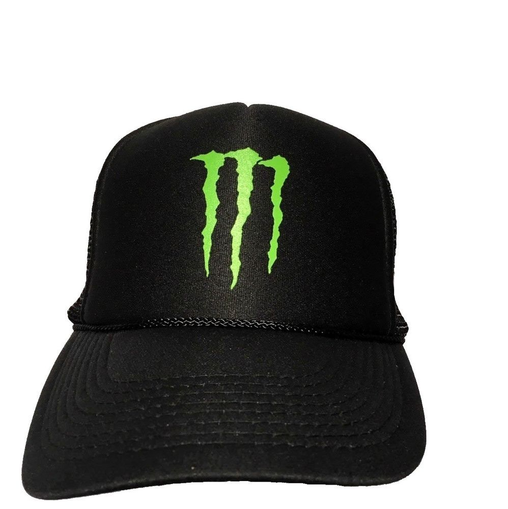97dac65e700 Monster Energy Drink Black Snapback Trucker Hat New Otto  Otto  Trucker