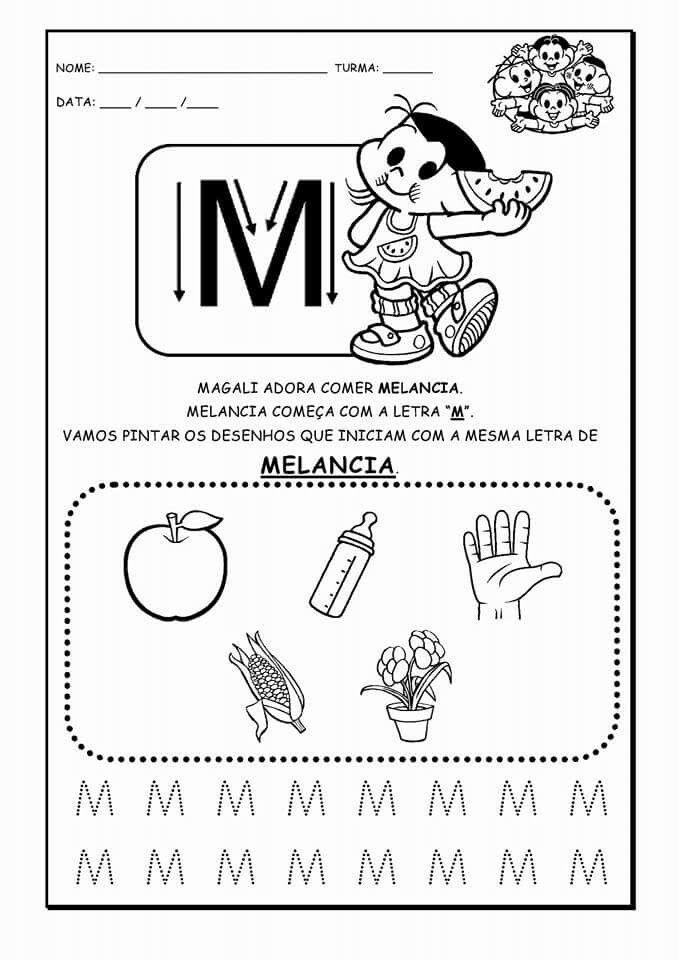 Pin Do A Mariana Matias Em Desenhos Para Pintar: Pin De Leidy Luiza Ranzan Em Letras Atividades