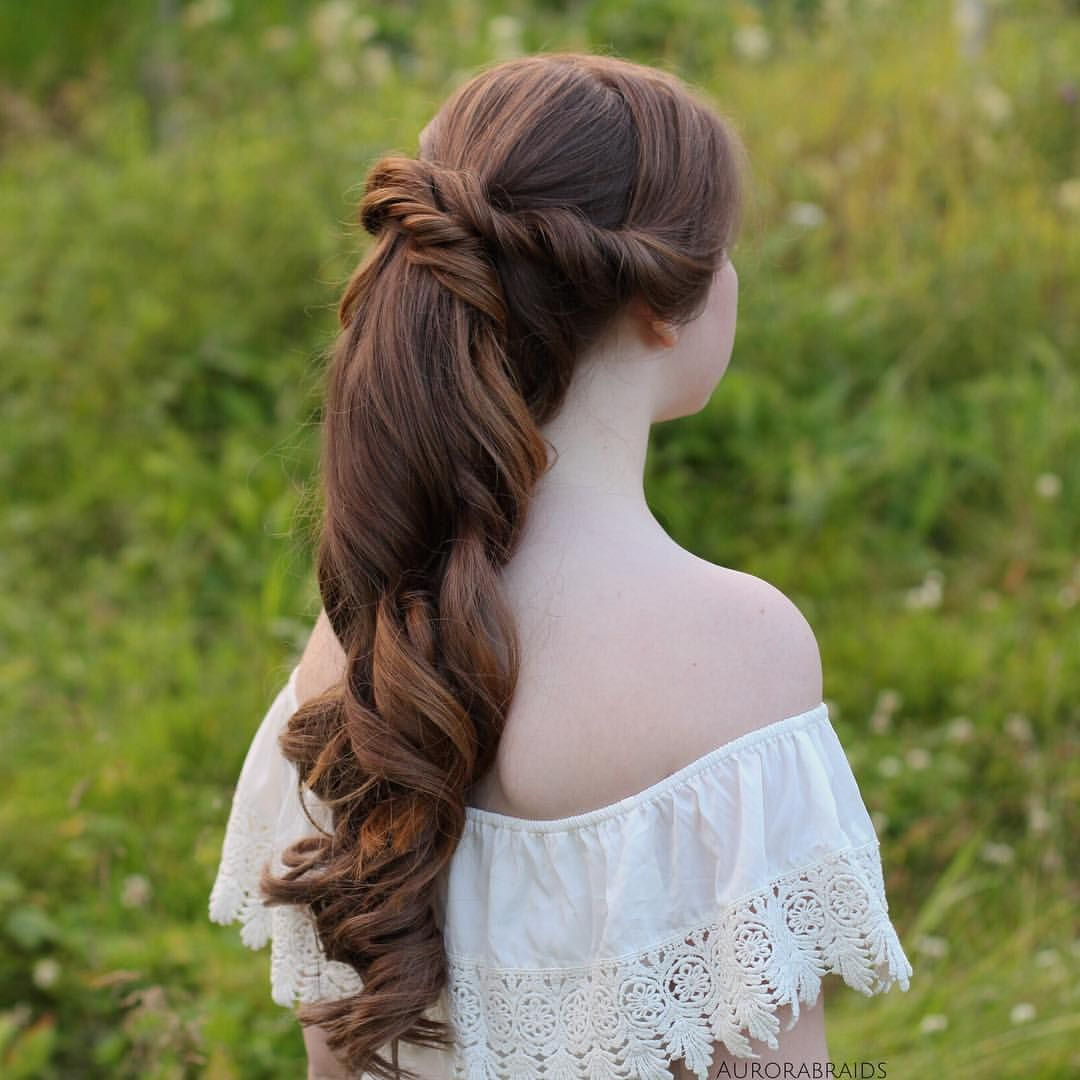 Curled ponytail🐴 ️ | Long hair styles, Hair styles, Prom hairstyles for long hair