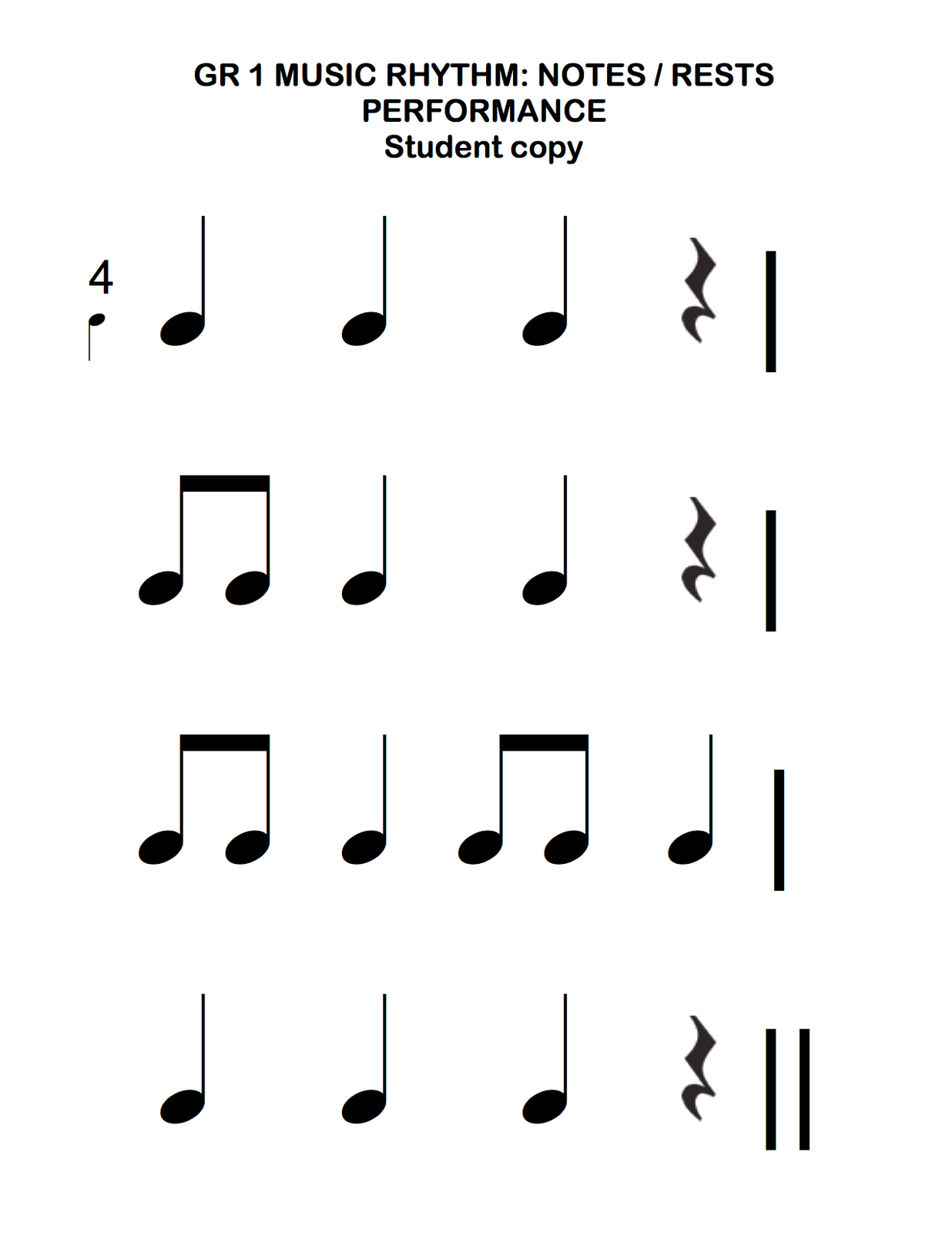 Beth S Music Notes 1st Grade