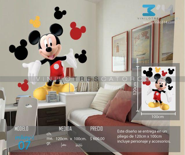 Vinilos Mickey Mouse Para Pared.Vinilo 3 14 Vinilos Decorativos Infantiles Mickey Mouse
