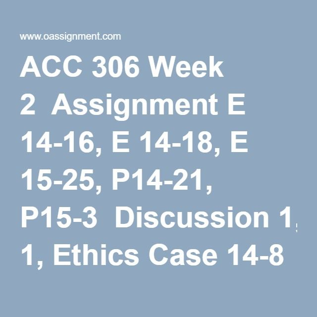 Acc  Week  Assignment E  E  E  P P