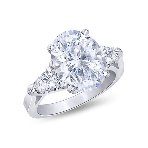 1.61 ct. oval center diamond ring 3-stone by diamondsfromnewyork