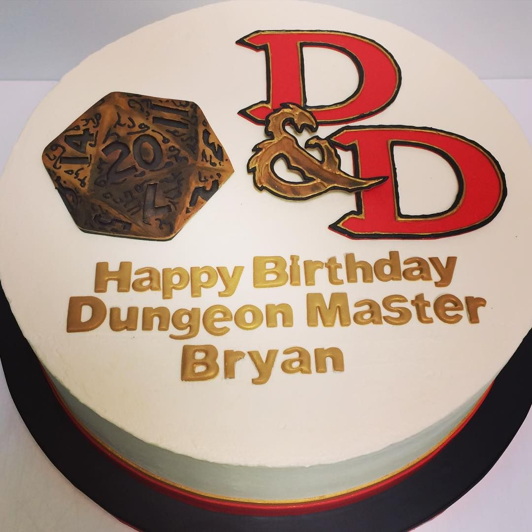 Happy Birthday Dungeon Master Bryan Beautiful Cake Topper Made By