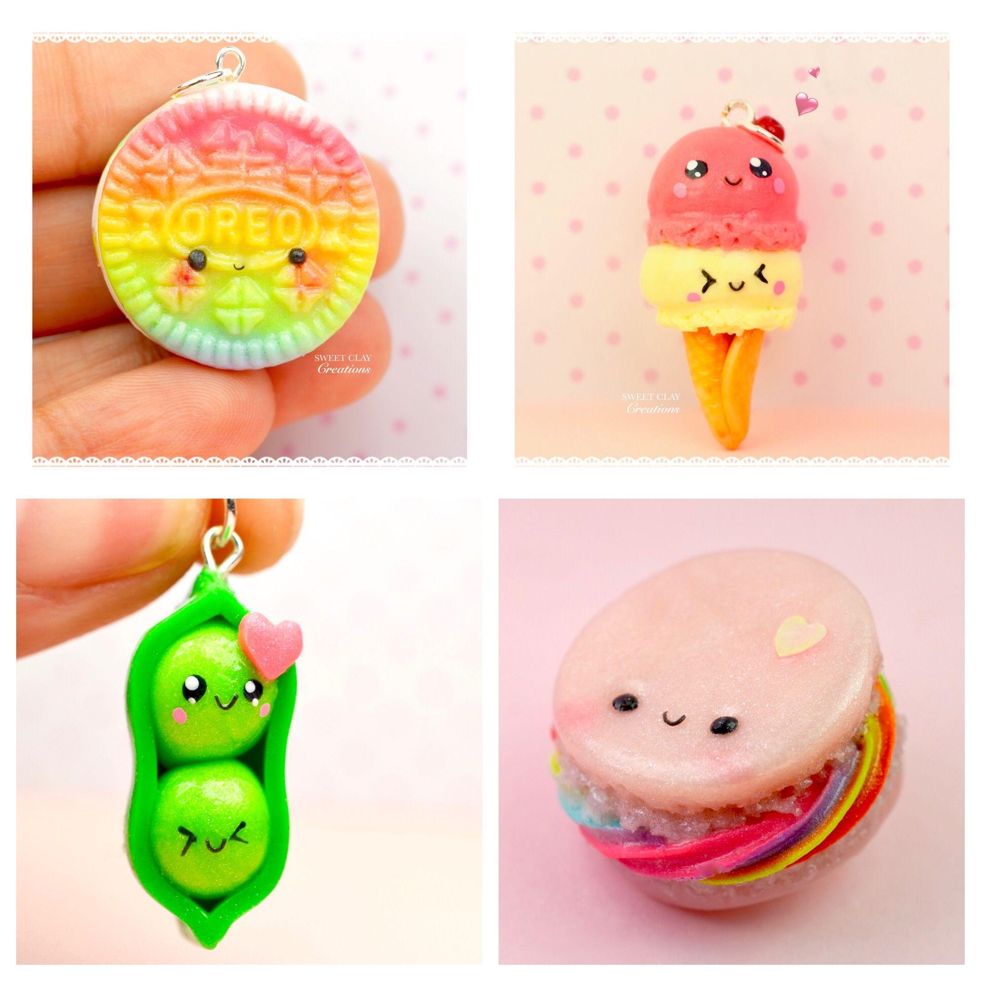 Miniature Food Jewelry Kawaii Charm Polymer Clay Handmade