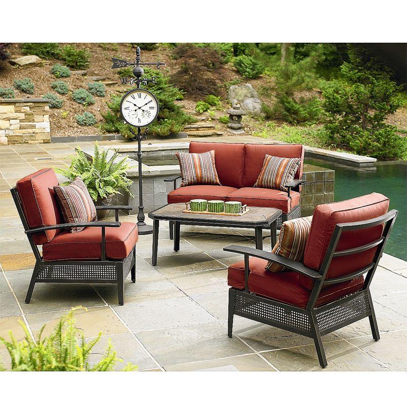 Sierra Conversation Replacement Cushion Set Patio Furniture Layout Patio Furniture Umbrella Outdoor Patio Decor