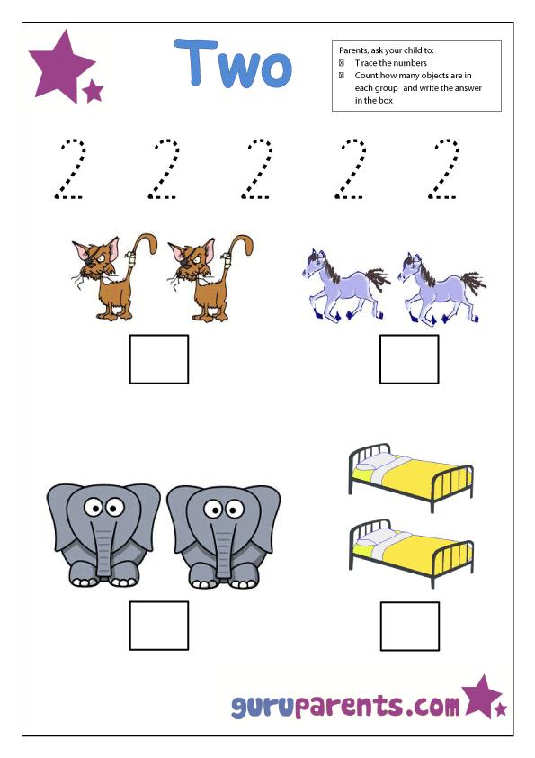 Number 2 Free printable worksheets Worksheets