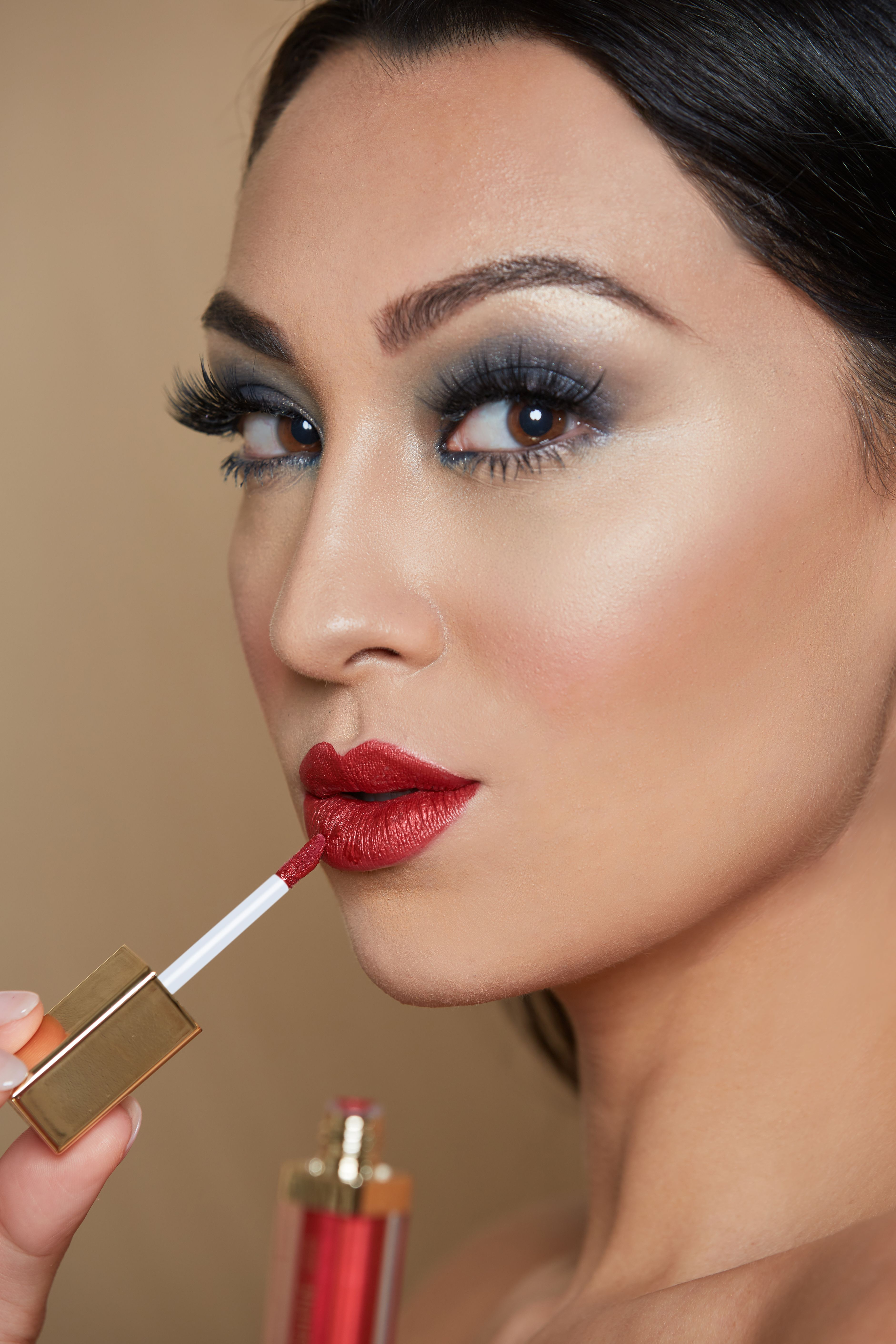 BEST HIGH SHINE CHROMATIC LIPSTICK IN RED! Brow Bar by