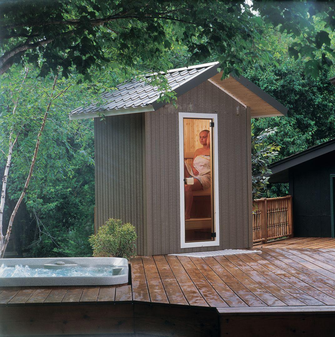 Patio Sauna By Helo Outdoor Sauna Sauna Design Sauna