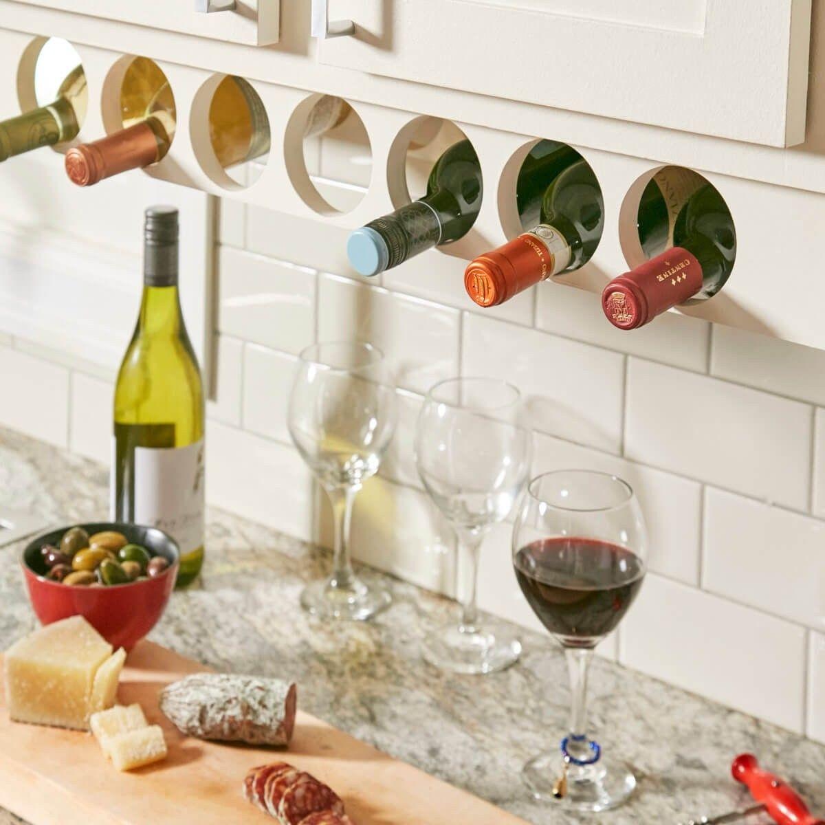 Space saving wine rack.   Kitchen cabinet wine rack, Wine ...