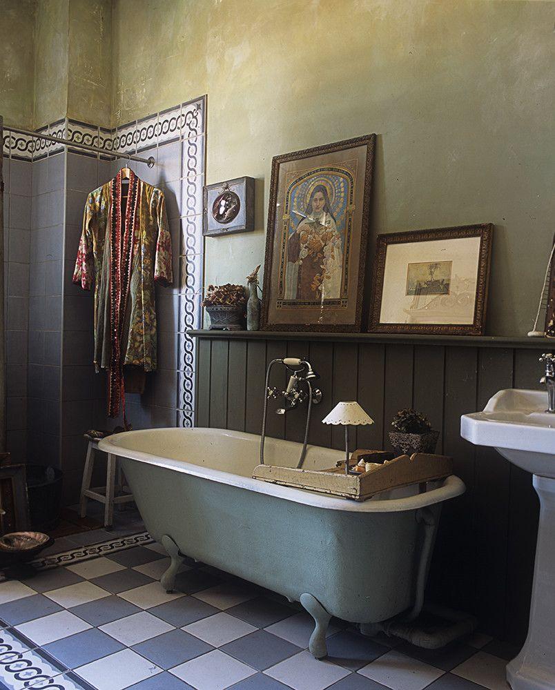 Badezimmer design ideen klein missclara  shabby  pinterest  badezimmer kreidefarbe und baden