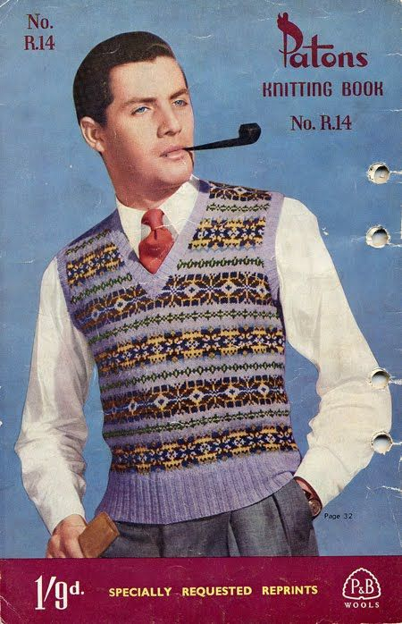 50s knitting patterns for men - Google Search | FAIR ISLEVEST ...