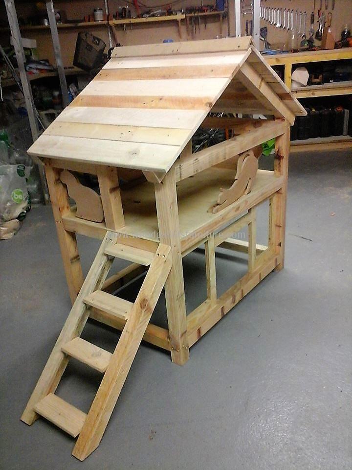 DIY Wood Pallet Cat House | Wood Pallet Furniture | Cat ...