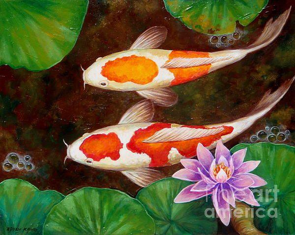 Texture Koi Art Koi Painting Fish Painting