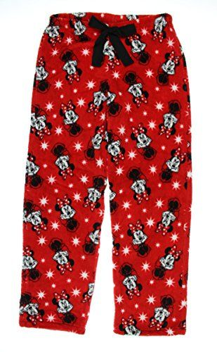 Disney Minnie Mouse Fleece Pajama Lounge Pants Medium 810 *** Click on the image for additional details.