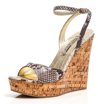 f20145328ead EMY MACK Besty Wedge with ankle strap and lacquered cork. Pretty python  print.  EmyMack  EMsummer  MadeinItaly Available at www.EmyMack.com