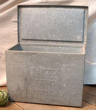Vintage Industrial Salvage Galvanized Metal Storage Advertising Milk Box For Organization Milk Box Milk Delivery Galvanized Metal