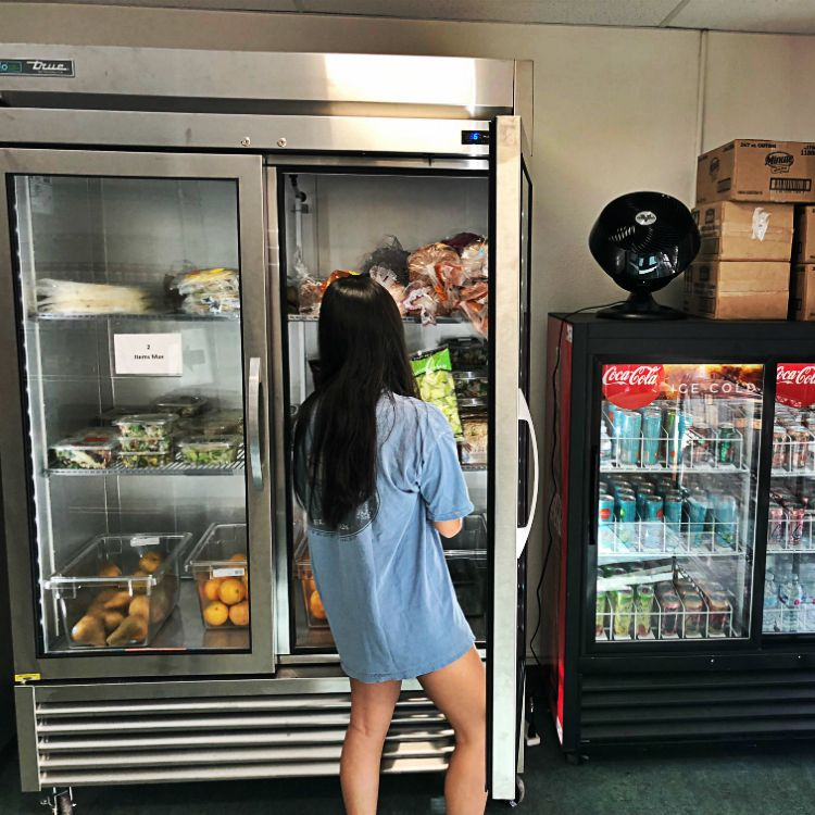 At the new Trojan Food Pantry, students experiencing food